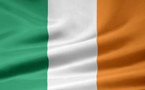 rippled Irish flag